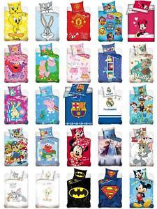 Baby Bettwäsche 100x135cm Disney Bugs Bunny Tweety Peppa Paw Patrol FC Barcelona