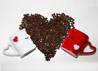 Mia ♥ Mio Kaffeetassen Küssende Tassen Set Geschenk Freund / Freundin / Eltern