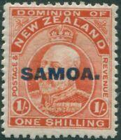 Samoa 1914 SG121 1/- vermilion KEVII SAMOA. ovpt MLH