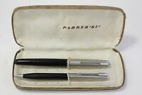 Vintage Parker 51 Fountain Pen and Mechanical Pencil with Case