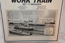 Walther's #932-84 HO scale Maintenance of Way Work Train kit set 1