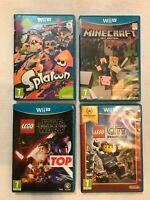Wii u game bundle - Minecraft, Splatoon, Lego Star Wars and City Undercover