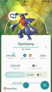 Pokemon Legendary Go Garchomp High CP Same Day Trade Or 30 Day