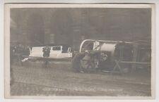 Yorkshire (West) postcard - Car Smash. Church Bank, July 31st 1907, Bradford