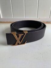 Louis Vuitton LV Brown Belt 90 36 Logo CA1016