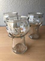 Vintage PEPSI COLA Glass Mug w/Handle From the 70's - Set Of 3 16 oz. Glasses.