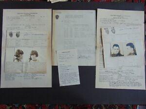 c.1929 MASSACHUSETTS PRISON DOCUMENTS with FINGERPRINTS & MUG SHOTS