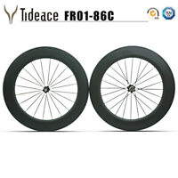 T800 86mm Carbon Fiber Road Racing Bicycle Wheelset UD Black Glossy/Matte Rims