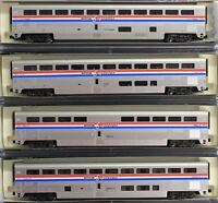 N Scale - KATO 106-3517 AMTRAK Superliner Phase III 4-Car Set A - Hard to Find