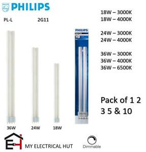 Philips PL-L 2G11 18W 24W 36W 4 PIN Compact Fluorescent Lamp