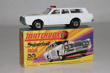 MATCHBOX SUPERFAST #55 MERCURY POLICE CRUISER STATION WAGON, EXCELLENT, BOXED