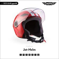 Jet-Helm Roller-Helm Motorrad-Helm Scooter Mofa MOTO U52 - Racing R. XS S M L XL
