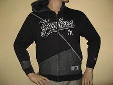 USED ONCE BOYS TRENDY BLACK NEW YORK YANKEES HOODED JACKET HOODIE AGE 13-14-15