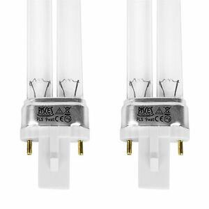 2 X 9W 9 WATT PLS POND FILTER UV/UVC BULB/LIGHT/TUBE/LAMP ULTRA-VIOLET CLARIFIER