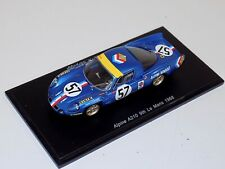 1/43 Spark Alpine A210 car #57 9th in 1968 24 Hours of LeMans S4372