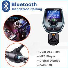 Bluetooth Handsfree Car Kit FM Transmitter Modulator Aux Audio USB MP3 Player US