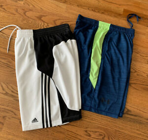 Adidas/Under Armour Running Athletic Basketball Shorts Men's Size L (Lot of 2)