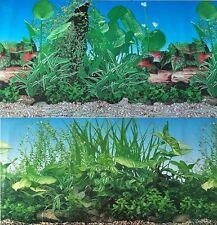 "Aquarium Background 48"" x 19"" 2 Sided Plants Aquarium Freshwater"