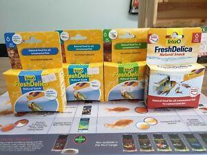 Tetra FreshDelica Fish food bundle Brine Shrimp, Krill, Daphnia and Bloodworm