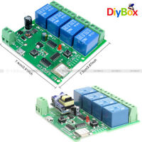 AC 220V DC 5-32V 4 CH WiFi Wireless Delay Relay Switch Remote APP Control