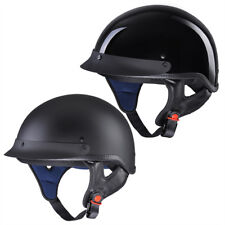 Motorcycle Half Helmet DOT Open Face Chopper Cruiser Bike Skull Cap Size S-XL