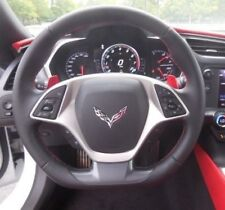C7 Corvette 2014+ Flat Bottom Black Leather w/ Red Stitching Steering Wheel