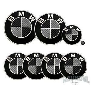 For BMW Badge Satin Carbon Fibre Black & Dark Grey All Models Decals Stickers