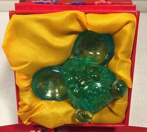 LIULI LIVING Crystal Glass COME FORTUNE Sculpture LIULIGONGFANG Year Of The Rat