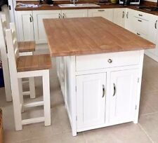 Bespoke Hand Made Kitchen Island With 2 Stools To Order