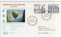 switzerland balloon post stamps cover  ref 7674