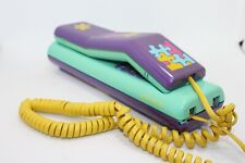 vintage phone SWATCH TWIN phone 1989 collector puzzle model purple 80s retro