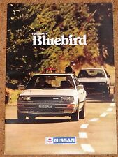 1986-87 NISSAN BLUEBIRD SALES BROCHURE Inc ZX TURBO, Sal, EST-New Old Stock!!!