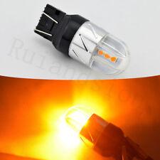 Pair 7443 7440 T20 12V - 24V 3030 CANBUS 5-SMD LED AMBER TAIL BRAKE LIGHTS BULB