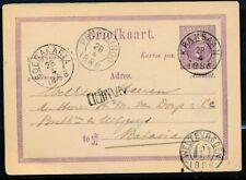 N.I. BESTELLER NAMIDD OP BRIEFK.5 CT., KLEINR.KRAKSAAN 28.4.1886 - BATAVIA Ae130