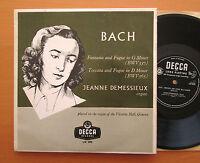 "LW 5095 Jeanne Demessiuex Bach Organ Works - Decca 10"" Mono - EXCELLENT"