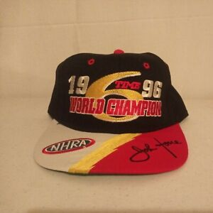 Vintage 1996 John Force World Champion Six Happens Hat New New Without Tags Rare