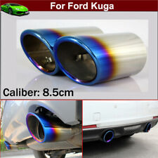 2pcs Blue Exhaust Muffler Tail Pipe Tip Tailpipe for Ford Kuga 2013-2021