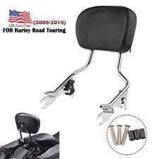 Chrome Detachable Backrest Sissy Bar Chrome Harley Davidson Touring 09-18 17