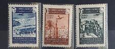 Marruecos Espanol Rare Set Of 3 CORREO AÉREO POSTE AÉRIENNE AIRMAIL MNH R44