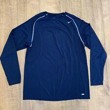 """Nike Pro Performance Apparel Black Dri Fit Compression Running Top Shirt XXL 44"""""""