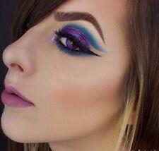 PAIR of Fusion VIOLET Purple crazy eye color contact halloween lens lenses +Case