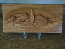Us Navy Submarine Dolphins engraved wooden oak plaque