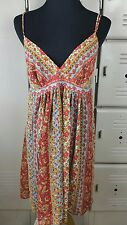OSCAR DE LA RENTA PINK LABEL Boho Baby Doll Paisley Mini Dress Sz S  ~boxM~