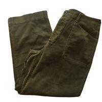 Polo Ralph Lauren Men's 34 X 30 Wide Wale Brown Corduroy Pleated Pants