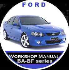FORD BA-BF FAIRMONT FALCON  XR6 XR8 FPV GTP UTE WAGON SEDAN REPAIR MANUAL CD