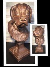 "Hunting Dog Bust ""Labrador Retriever"" 13"" Pedestal Statue Resin Library Decor"