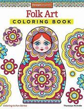 Folk Art Coloring Book (design Originals): By Thaneeya McArdle