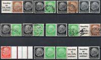 Briefmarken DR Hindenburg Zusammendrucke Lot, postfrisch und gestempelt