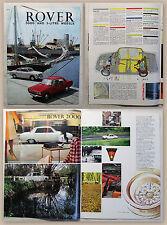 Werbeprospekt Broschüre Rover 2000 & 3-Liter Modelle um 1965 Automobil Oldtimer