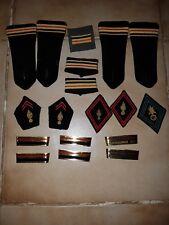 lots insigne militaire en tissus et metal